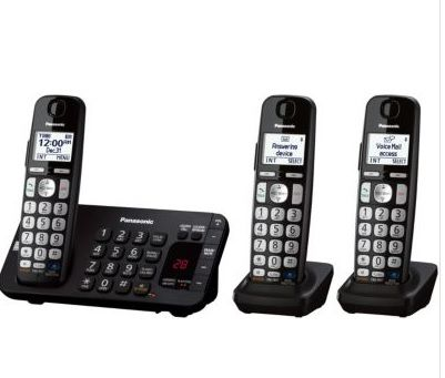 Panasonic® 3-HS Dual Keypad Cordless Phone