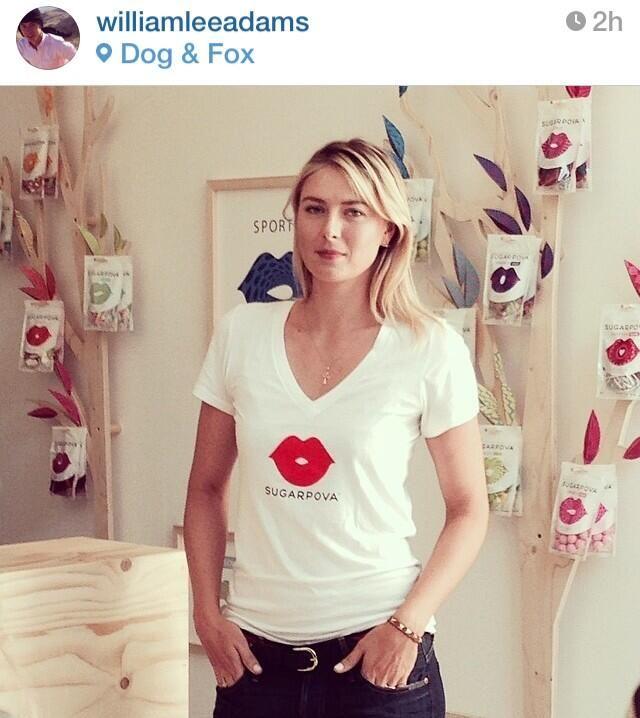 Maria at Sugarpova pop-up sweet shop in #Wimbledon #PovaPopUp