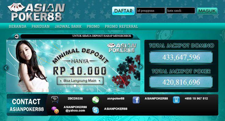 AsianPoker88 Agen Poker Online Terpercaya