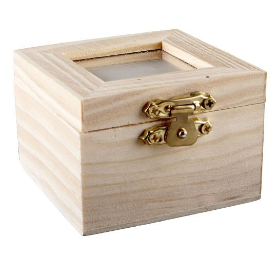 <div>There are so many ways to craft your creativity with this wood box! The inset in the lid is...