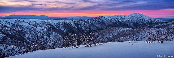 Mt Feathertop, the Razorback and Mt Buffalo Evening glory   Limited Edition Prints   Scott Leggo images   Australian landscape photographer   Limited edition photography