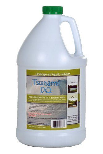 Tsunami DQ Aquatic Herbicide Gallon by Crystal Blue. $125.00. Controls Duckweed. Diquat based weed control. Aquatic herbicide. Tsunami DQ is an aquatic herbicide used to control pond weeds like duckweed, american pond weed, and coontail. This product can not be sold to the following states: AR, CT, MI, NH, NJ, NY, CA.