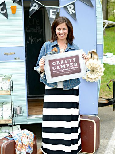 Denise Sabia's Crafty Camper is decked out with my Modern June Chalkcloth Party Banners! Click on over to see more! @countryliving @ThePaintedHome @modernjune