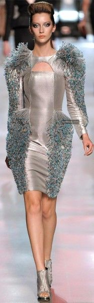 Manish Arora for Paco Rabanne Spring Summer 2012 during Paris Fashion Week.