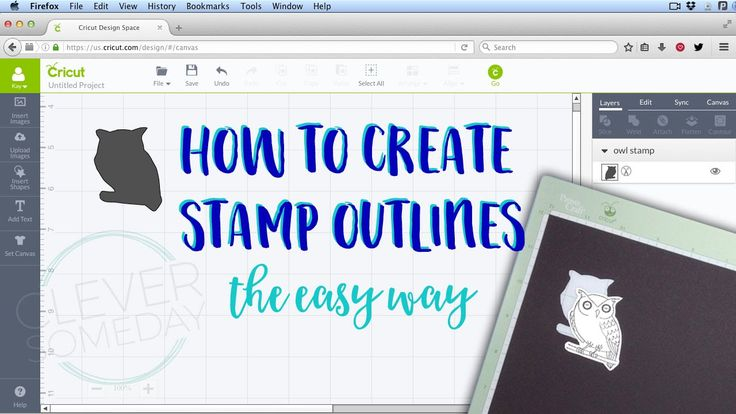 How to scan and import an outline for your stamps so that they are automatically the correct size with this easy low tech method that requires only Cricut De...