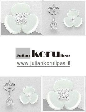 Näissä korvakoruissa saat kaksi versiota: eli käytä kukkakoruina tai pelkkinä kristallikorvakoruina!