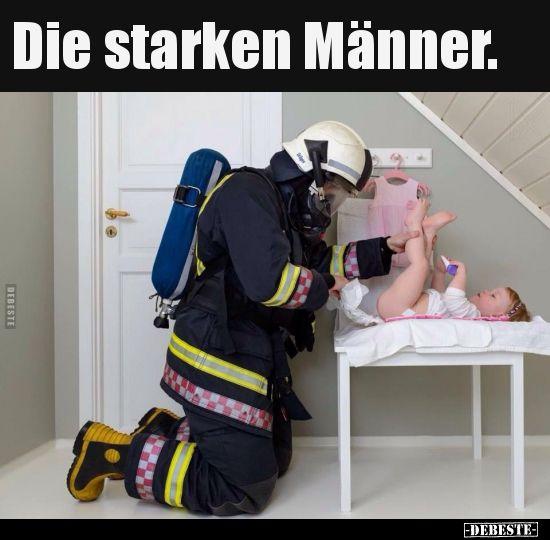 Die starken Männer.   Lustige Bilder, Sprüche, Witze, echt lustig – Annette Herrmann