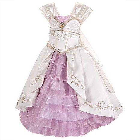 Amazon Disney Store Limited Edition Princess Rapunzel Wedding Gown Costume Dress Size 4