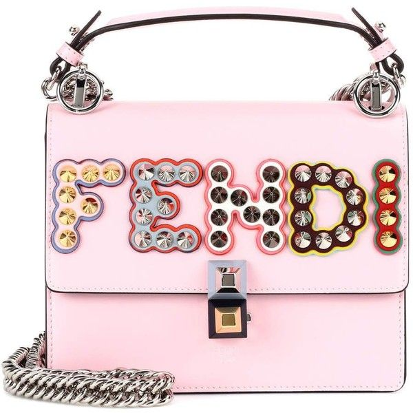 Kan I Small pink leather shoulder bag by Fendi.