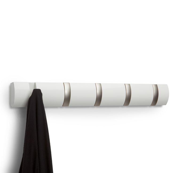 Valkoinen Flip naulakko