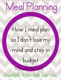 How I create healthy family meal plans on a budget.