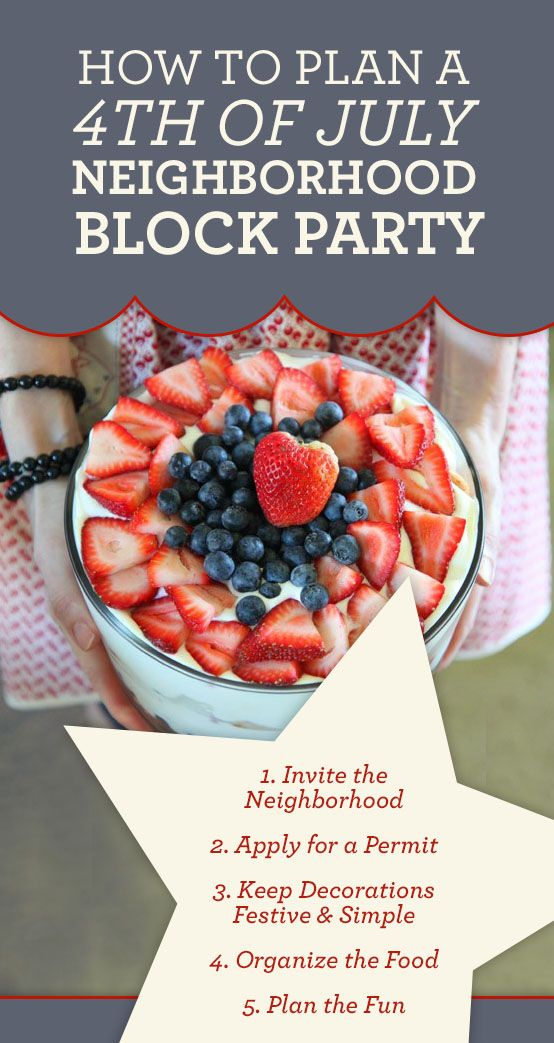 4th of July Block Party Ideas #july4th
