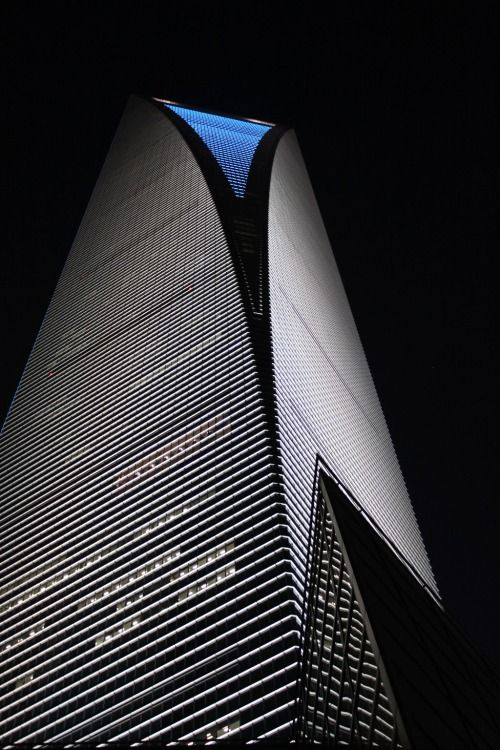 Centro financiero mundial, Shanghai, China.
