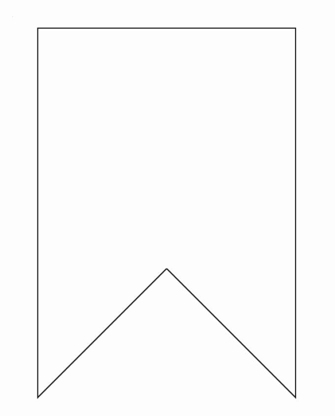 Triangle Banner Template Free In 2020 Printable Banner Template