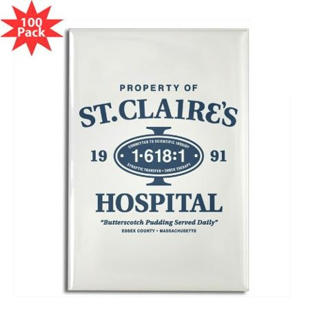 St. Claire's Hospital Rectangle Magnet (100 pack)