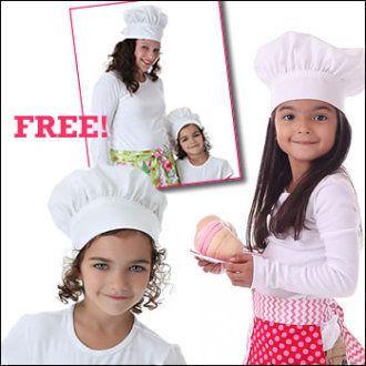 Chef hat freebook Kochhaube für Kinder und Erwachsene