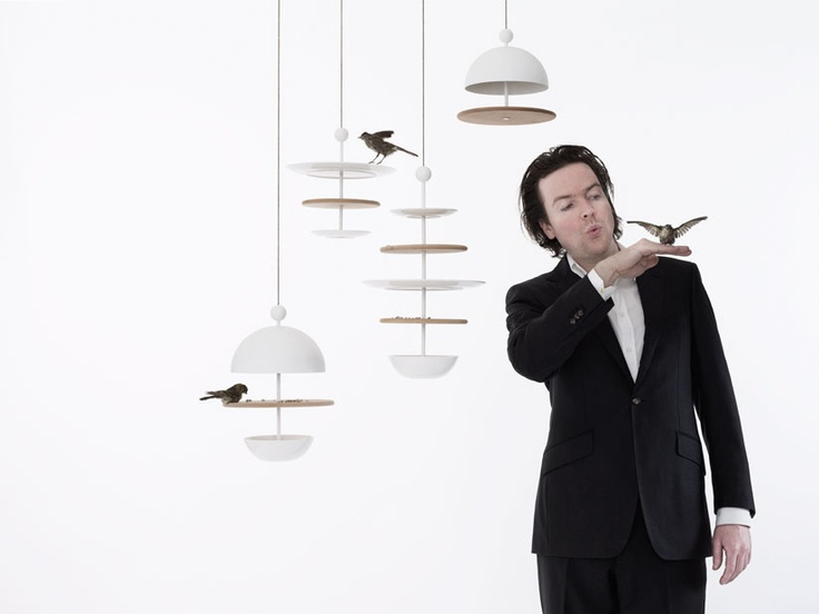 stylish bird feeder by Frederik Roije