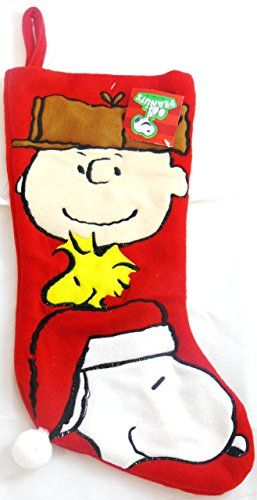 Peanuts Charlie Brown, Snoopy & Woodstock Christmas Stocking