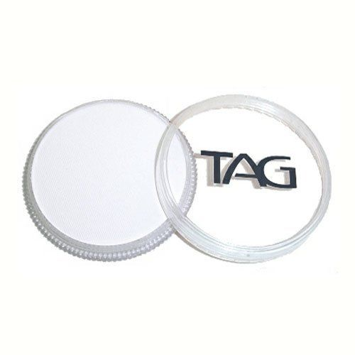 TAG Face Paints - White (32 gm) by TAG Body Art. $6.47. TAG face paint is hypoallergenic and made with non-toxic, skin safe ingredients.. Great for line work. Each 32 gram TAG Face Paint Container is good for 50-200 applications.. TAG Face Paint is very easy to blend, soft on the skin and does not crack or peel.. TAG White Face Paint is very easy to blend, soft on the skin and does not crack or peel. Most of TAGs face painting colors are great for line work and lighter face pain...