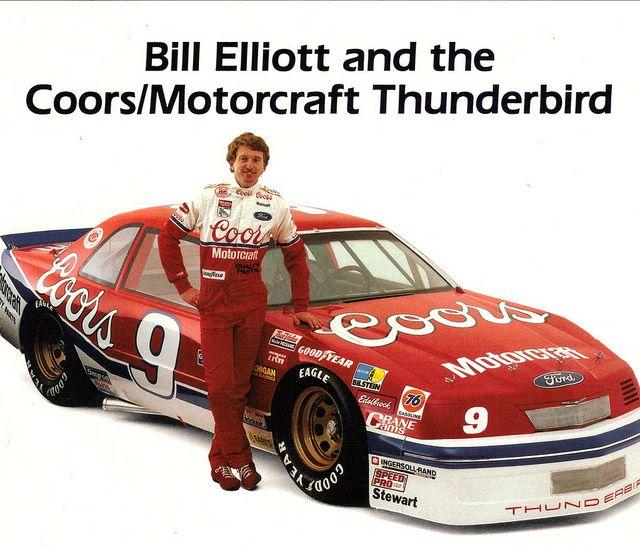 Bill Elliott and the Coors Motorcraft 1988 Ford Thunderbird NASCAR Race Car | Flickr - Photo Sharing!