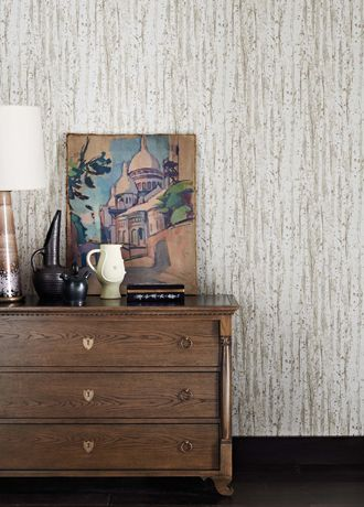 Birch wallpaper from Osborne and Little - W6583-01 - Ivory/ Parchment