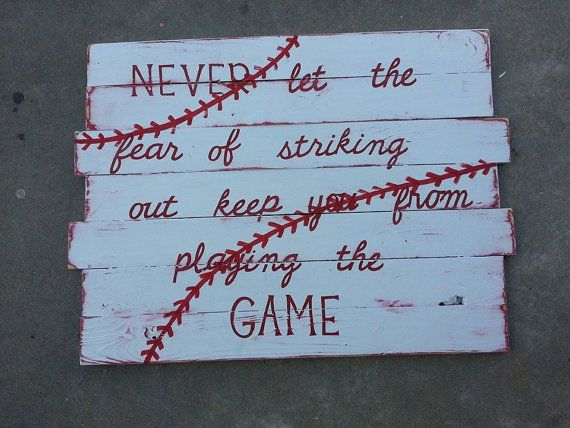 Baseball Pallet sign by AlliApp on Etsy,