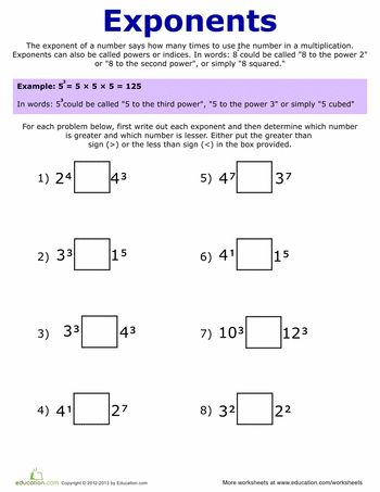 best 25 exponents practice ideas on pinterest order of operations algebra and math fractions. Black Bedroom Furniture Sets. Home Design Ideas