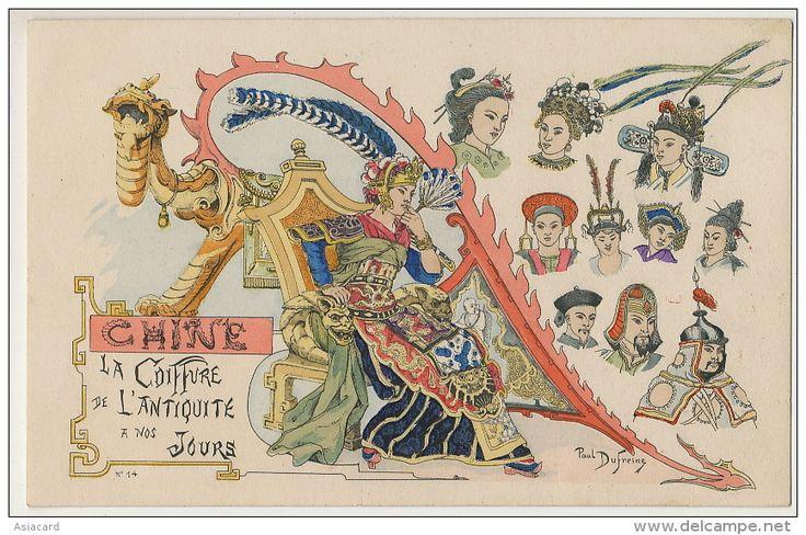 Art Card By Paul Dufresne Chine La Coiffure Antiquité A Nos Jours Dragon  - China
