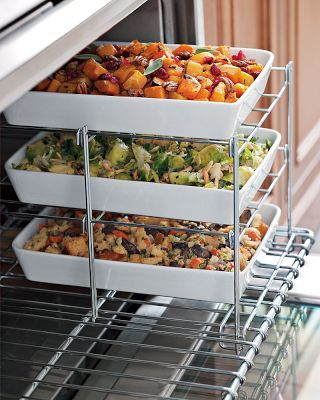 Three Tiered Oven RackKitchens, Ideas, Side Dishes, Three Tiered, Williams Sonoma, Williamssonoma, Ovens Racks, Families Meals, Tiered Ovens