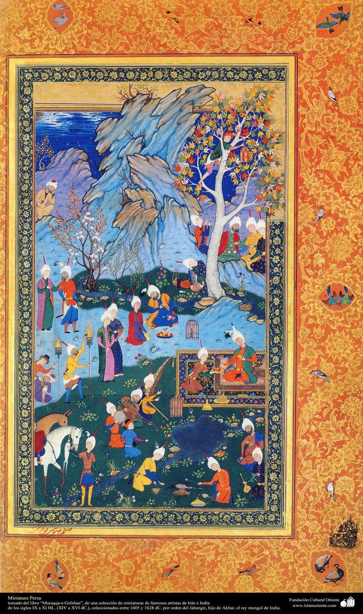 A masterpiece of Persian miniatures - Moraqqaʿ-e Golšan 1605-1628 شاهکار مینیاتور فارسی - کتاب کوچک مرقع گلشن