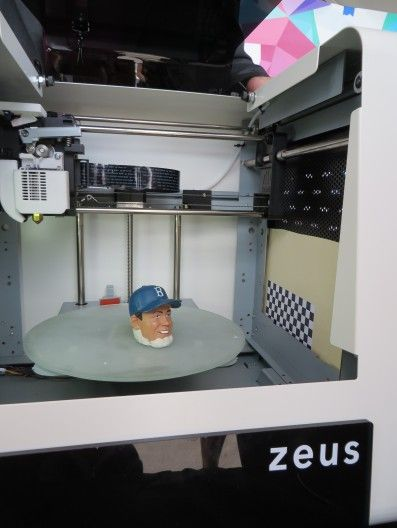 Meet Zeus, the consumer all-in-one 3D printer, scanner and fax. Objects up to 5 inches tall can be copied