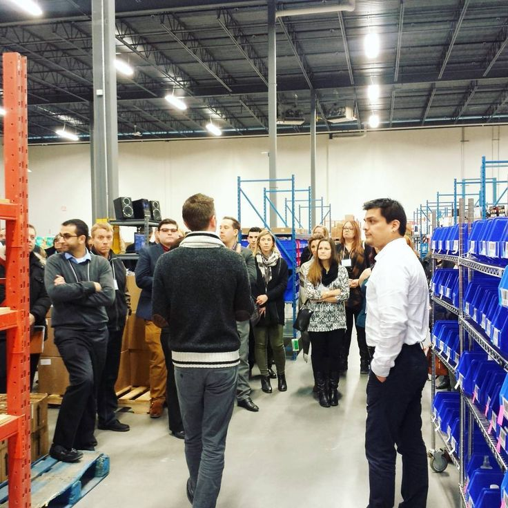Sneak peak of the warehouse! Here's our VP of Operations Phil leading some of our vendors on a tour of the Well.ca warehouse during the annual Well.ca. Vendor Summit.