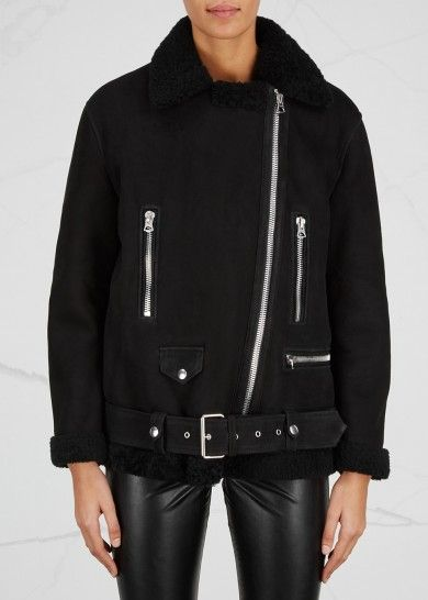 ACNE STUDIOS More suede and shearling jacket