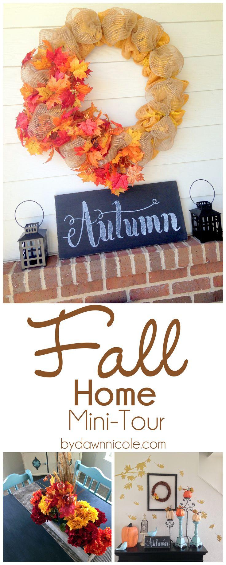 Fall Home Mini-Tour | bydawnnicole.com