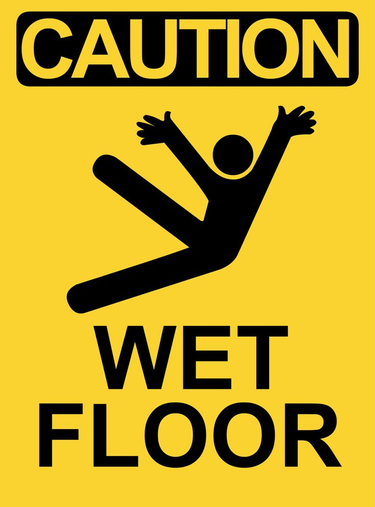 Caution Slippery When Wet Sign | home