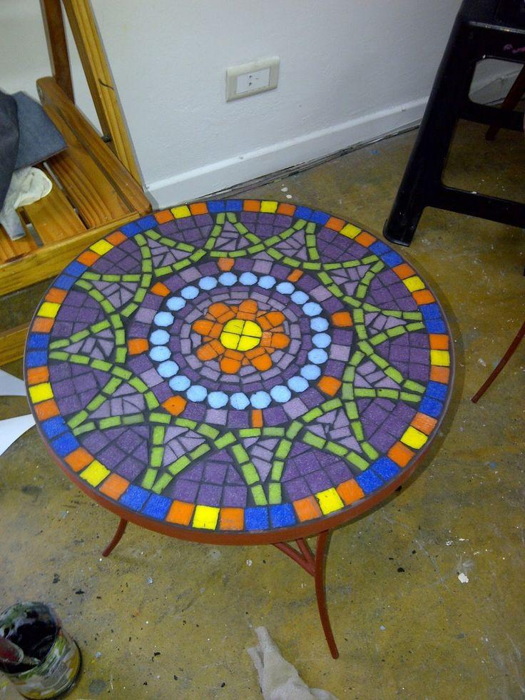 mesas con mosaiquismo buscar con google mosaico