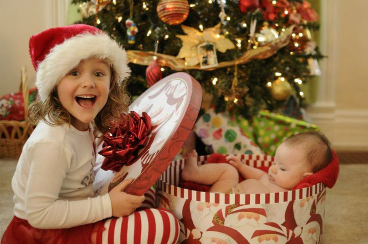 Niece took this photo of her girls for Christmas cards....so adorable! Great pose idea.