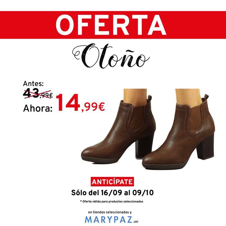 🍂 🍂 🍂 ¡¡¡ OFERTA DE OTOÑO BY MARYPAZ DESDE 9,99€ !!! 🍂 🍂 🍂  Busca este BOTÍN DE TACÓN aquí ►http://www.marypaz.com/oferta-oto-o/botin-de-tacon-y-plataforma-con-elastico-02337jana-05-72832.html  ¡No te pierdas la oferta de otoño by MARYPAZ desde 9,99€! ¡Encontrarás grandes descuentos!  🍂 🍂 🍂 ¡¡¡ OFERTA DE OTOÑO BY MARYPAZ DESDE 9,99€ !!! 🍂 🍂 🍂  #Follow #shoesobssession #love #otoño #fashion #obsesionadaconloszapatos #colour #obsesion #tendencias #marypaz #locaporlamoda #BFF