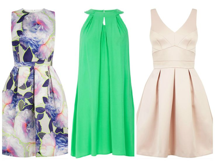 Summer midi dresses by Warehouse -- floral midi dress, green midi dress, beige midi dress. Find the best 10 British high street brands here >>> http://bit.ly/1HpdLuo