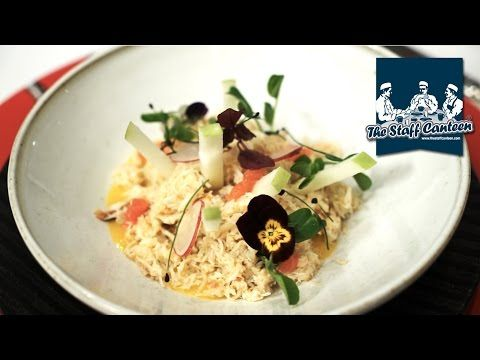 Pierre Koffmann talks food style and creates a crab and sea bass recipe - YouTube