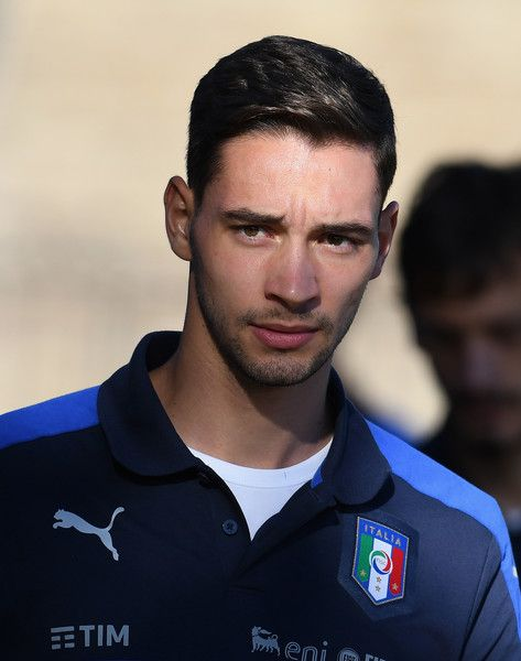 Mattia De Sciglio of Italy looks on prior to the training session at the club's training ground at Coverciano on October 4, 2016 in Florence, Italy.