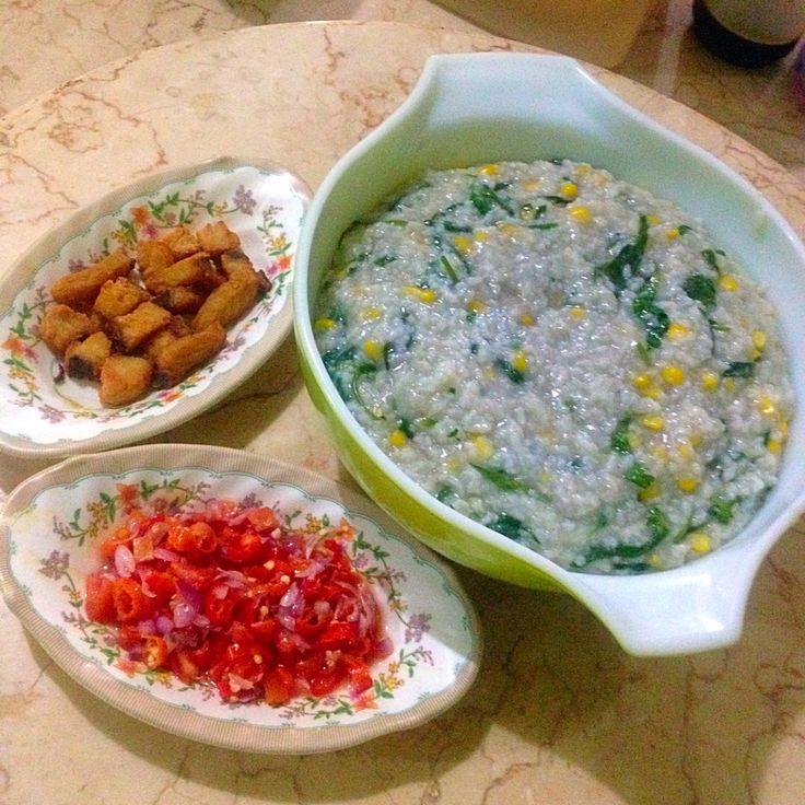 Bubur Manado + Ikan Jambal + Sambal Matah