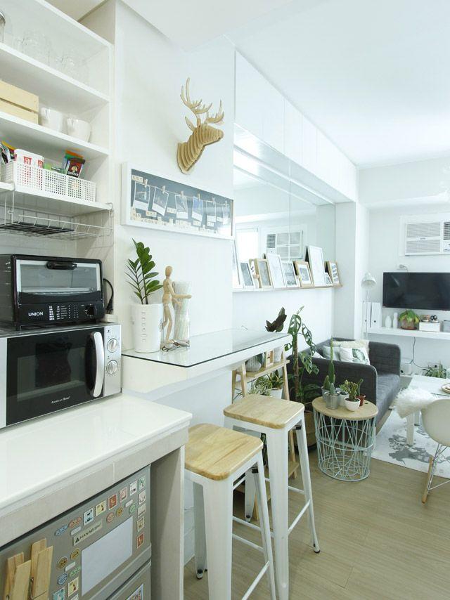 An All White 20sqm Studio Unit In Quezon City Condo Interior