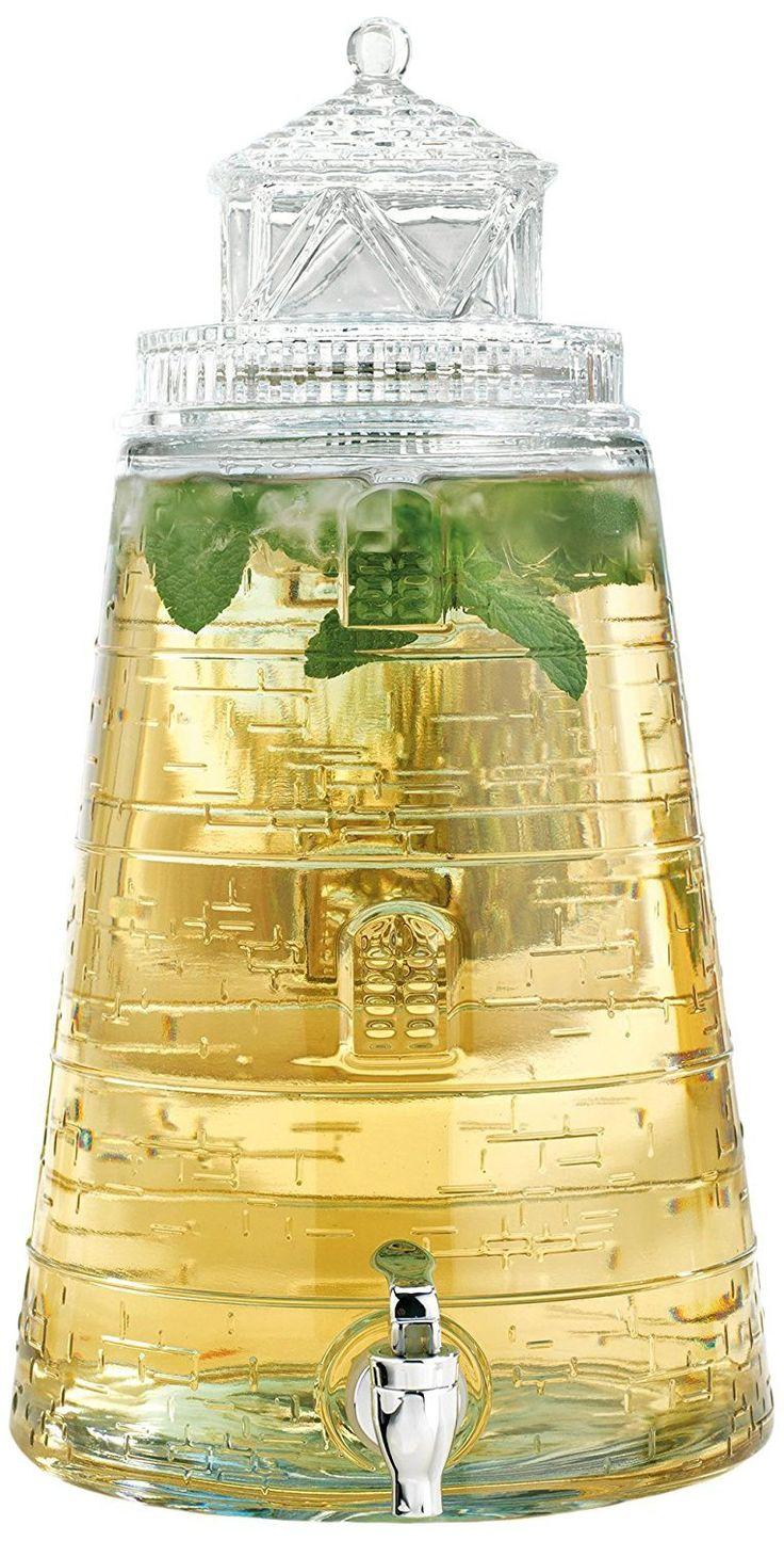 Lighthouse Glass Beverage Dispenser