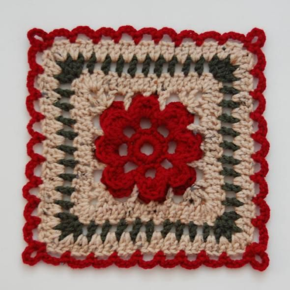 Spicy Rose Square :Free Crochet Pattern