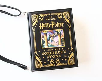 SALE Harry Potter Leather Book Bag The Sorcerer's Stone Leather Book Purse