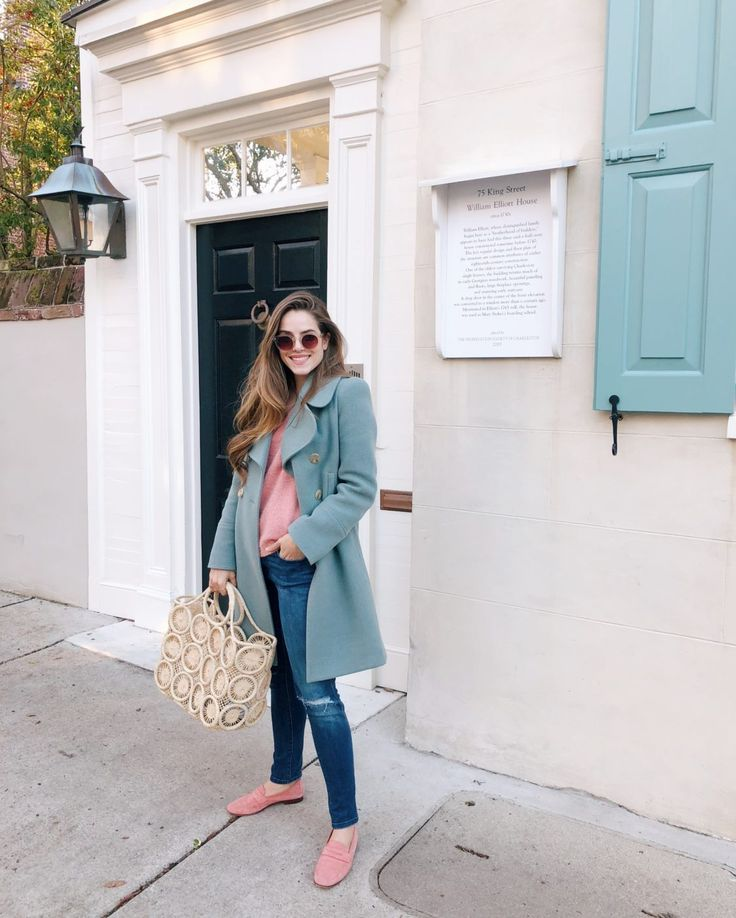 GMG Now Daily Look 1-18-18  Chloe coat, Velvet sweater, DL 1961 jeans and more. http://now.galmeetsglam.com/2018/01/daily-look/861194/
