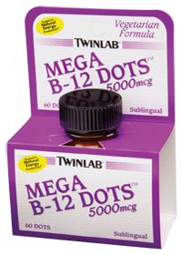 #vitaminshoppecontest   Mega B-12 Dots by TwinLab - Buy Mega B-12 Dots (5000 MCG) 60 Sublingual Tablets at the Vitamin Shoppe