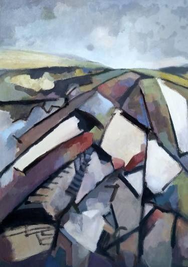 "Saatchi Art Artist Lubomir Tkacik; Painting, ""Fields"" #art"