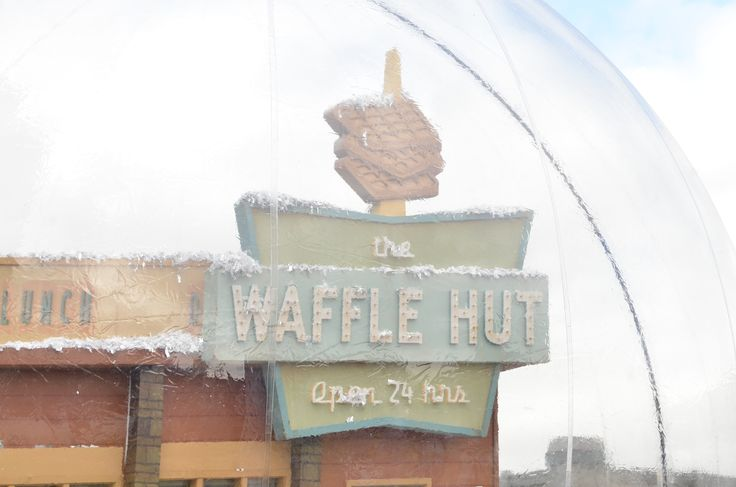 Fans got to pose with The Waffle Hut, a key location in the next season of #Fargo